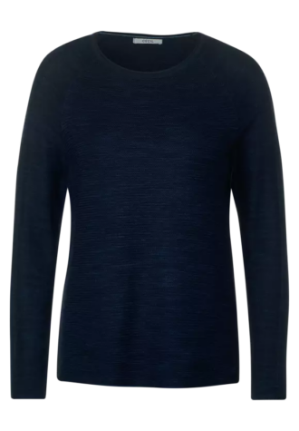 Ripp Pullover 301275 dunkelblau
